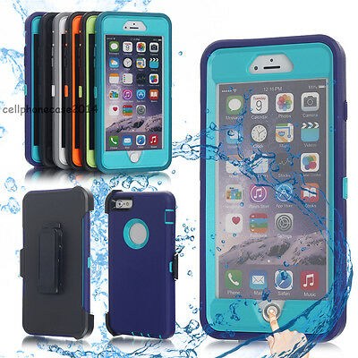 For iPhone 8 7 Plus 6 6s Shockproof Dirt Proof Durable Rubber Armor Case Cover