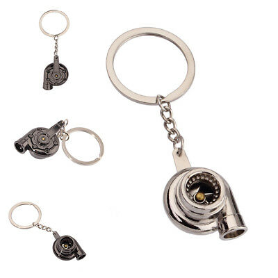 Real Whistle Sound Turbo Keychain Spinning Turbine Key Chain Ring Keyring Hot ##
