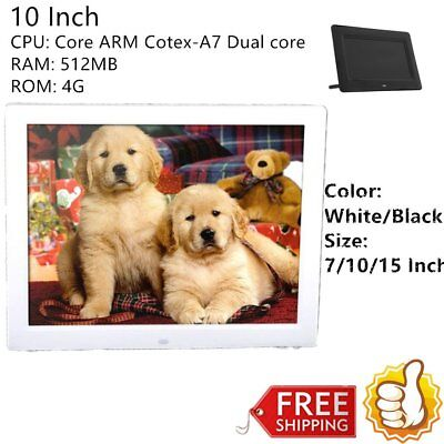 """7/10/15""""LED HD High Resolution Digital Picture Photo Frame + Remote ControllerAH"""