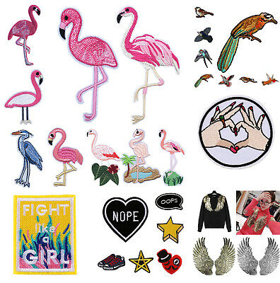 Embroidered Sew Iron On Patches Badge Hat Bag Fabric Applique Clothes Crafts DIY