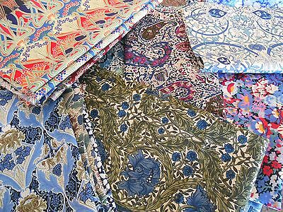 Liberty Fabric -Tana Lawn Remnants- Listing 2- 32X32Cm Square - Craft Patchwork