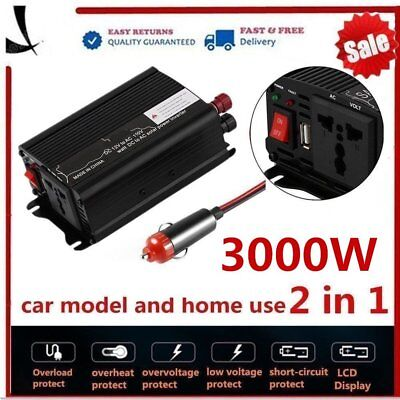 6000W Peak Solar Power Inverter 12V DC To 110V AC Modified Sine Wave HP