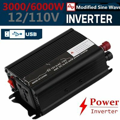 Peak Power 6000W DC 12V AC 220V Car Converter Power Inverter Electronic HP