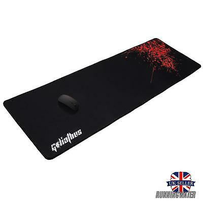 Gaming Mat Large Mouse Pad Extended 90x30cm Large Desk Mat Black& Red AU Stock