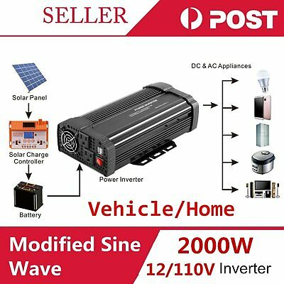 Max 4000W Car Vehicle USB DC 12V to AC 110V Power Inverter Adapter Converter HP