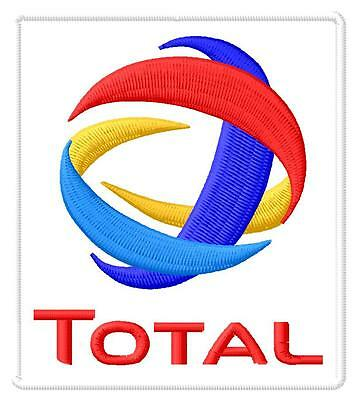 Total logo ecusson brodé patche Thermocollant iron-on patch