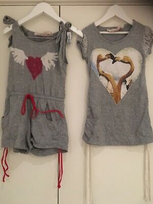 Girls Paper Wings Size 4 Jumpsuit And Dress Both 100% Organic Cotton