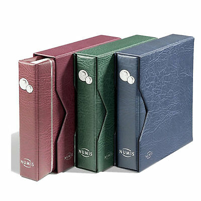 Lighthouse - Numis Coin Album and Slipcase Including 5 Mixed Coin Pages - Red