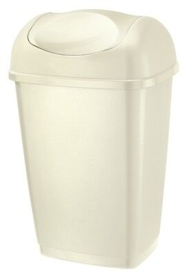 Tontarelli Swing Top Bin 25L Cream