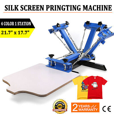 DIY 4 Color 1 Station Silk Screen Printing Machine Press Equipment T-Shirt