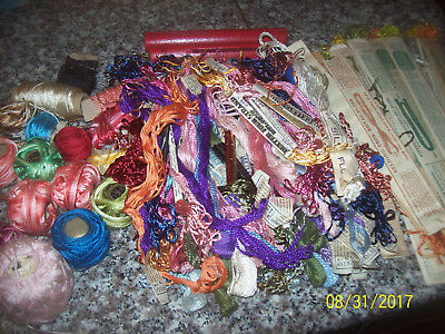 HUGE LOT ANTIQUE and VINTAGE EMBROIDERY THREADS