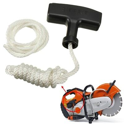 Chainsaw Strimmer Starter Recoil Pull Handle With Rope & Spare Cord