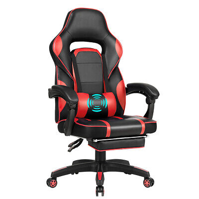 Ergonomic High Back Racing Gaming Chair Swivel Computer Office Desk w/ Footrest