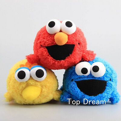 New Sesame Street Elmo Cookie Monster Big Bird Plush Toy Soft Doll 7'' Xmas Gift