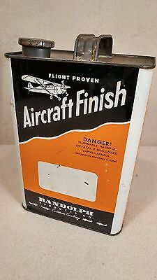 Vintage Randolph Aircraft Finishes One Gallon Can - Rare Orange! - COOL!