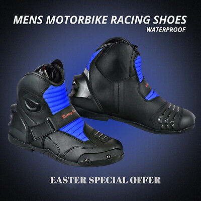 Black Friday Sale Motorbike Boots Leather Racing Shoes Waterproof Armoured Boots