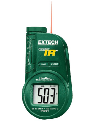 IR Thermometer (6 to 1 Spot Ratio) With built-in Laser Pointer - IR201