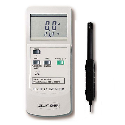 2 in 1 Humidity meter + Type K Thermometer - HT-3006HA