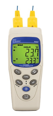 2 Input  Thermocouple Thermometer, Type K/J - 800007