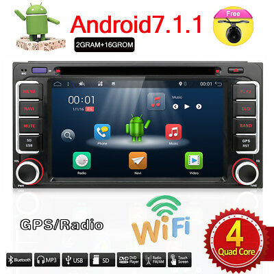 Android 7.1 Car DVD Stereo Player GPS DAB+ for Toyota RAV4 Hilux Corolla Camry