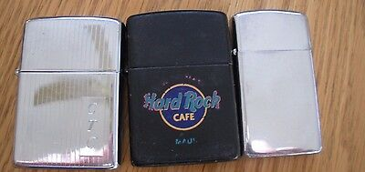 Lot Of 3 Vintage Zippo Lighters