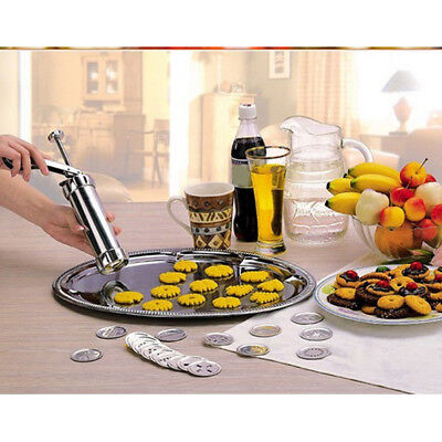Machine Kitchen Tool Cookie Biscuits Press Cake Decorating Biscuit Maker Set New