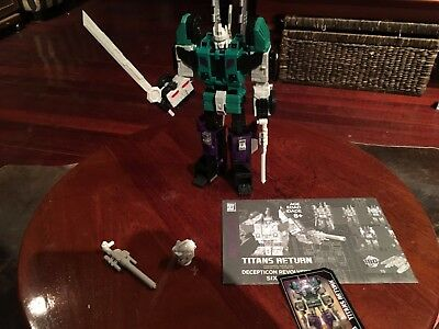 Transformers Hasbro Titans Return Sixshot + Dr Wu Upgrades