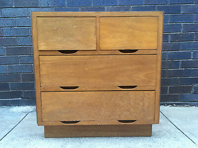 Vintage Retro Timber Chest of 4 Drawers