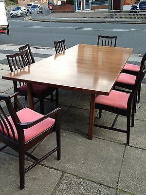 Set Of 8 Rosewood Dining Chairs Danish Retro Style