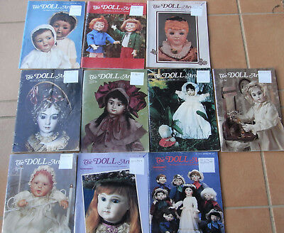 The Doll Artisan Magazines x 10 --- 1980s