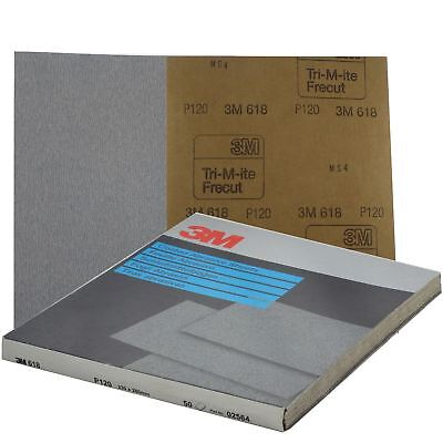 3M Silicon Carbide Abrasive Sheets Free Cut 230mm x 280mm P120 50 Sheets