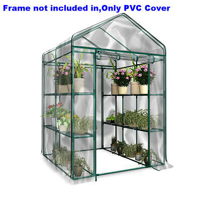 Garden Hot Plant House Greenhouse PE Cover Walk-In Green Shed Storage Apex Roof