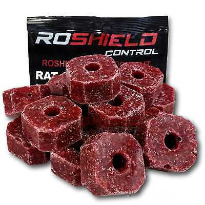900g Rat & Mouse Poison Killer Block Bait - Full Strength Rodent Vermin Control