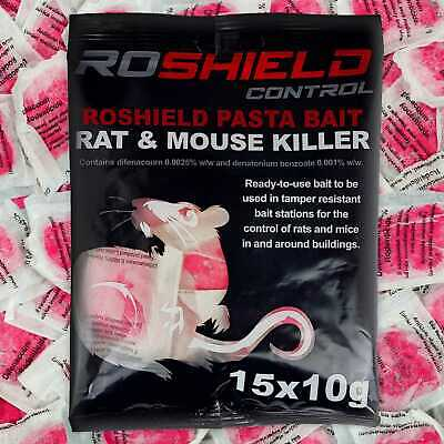 Pack of 15 Rat & Mouse Mice Pasta Poison Fast Killer Control Bait Sachet Blocks