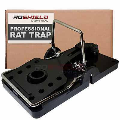 Roshield Rat Snap Traps - Professional Quality Powerful Trap for Control of Rats