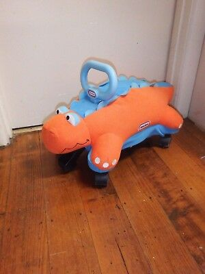 LITTLE TIKES Dinosaur Pillow Racer Ride On Toy 18~36 Mth Age Good Condition