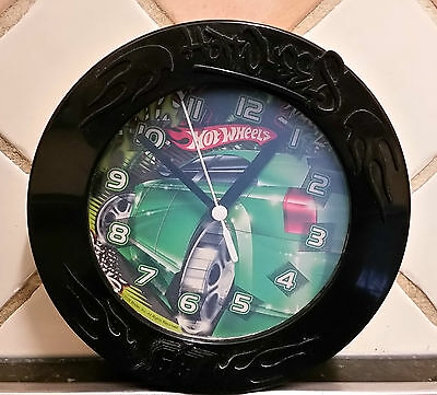 Hotwheels kids wall clock.  Hot Wheels kids clock.