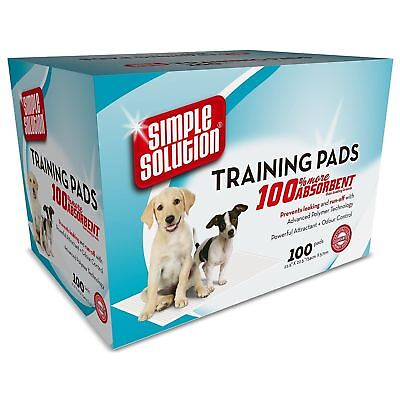 Simple Solution Absorbant Dog Puppy Toilet Training Wee Pads Holder 100 Pack