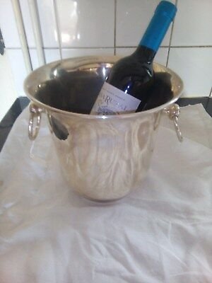 Large  Silverplated  Wine  Cooler