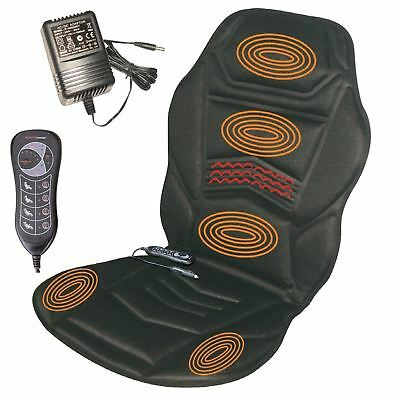 Heated Massage Chair Back Seat Cushion for Strass Stress Car Van Relaxing