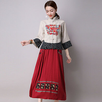 New Stand Collar Long Sleeves Linen&Cotton Chinese Women's Casual Coat/Jacket