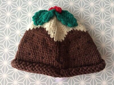 New Next Baby Knitted Christmas Pudding Hat 3-6 Months