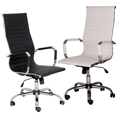 Modern Pu Leather Ergonomic High Back Executive Office Chair Sport Computer Desk