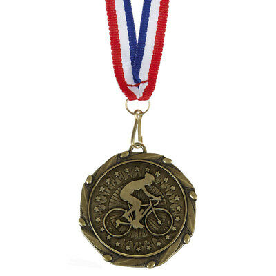 """Cycling Medals with Ribbons - Engraved FREE your message - Free P+P"""