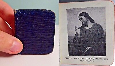 1906 The Imitation of Christ TINY! Miniature LEATHERBOUND Antique Book
