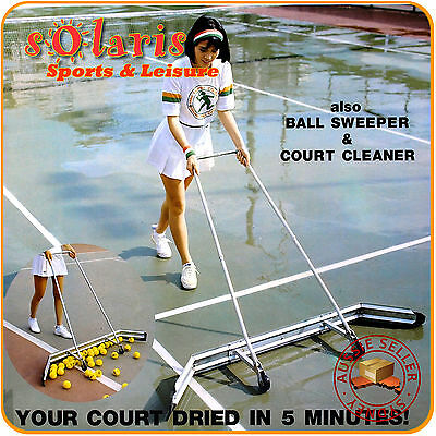 SHINE DRY COURT Tennis Court Squeegee - Court Sweeper - Surface Water Remover