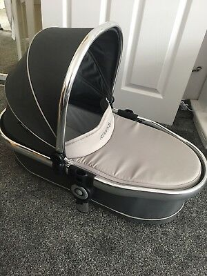 Icandy Peach Blossom Carrycot Truffle 2 NEARLY NEW with Hood/canopy
