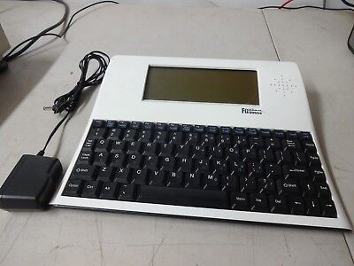The Writer Fusion Advanced Keyboard Tech Teaching Word Processor w/ AC adapter
