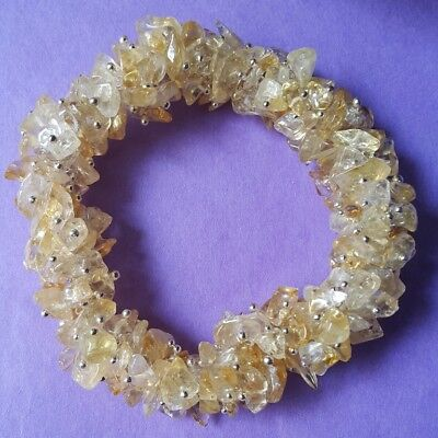 50 gm Attractive Citrin Chips Light Yellow Bracelet Gemstone IN