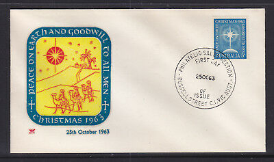 Fdc: 1963 Christmas , On  Royal Cover.  Un Addressed